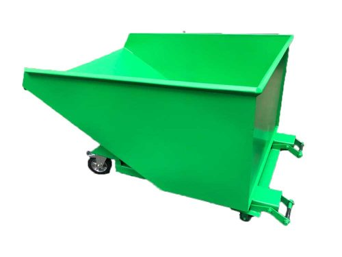 ETS-W - ECO Skip - Self Locking Skip with Casters
